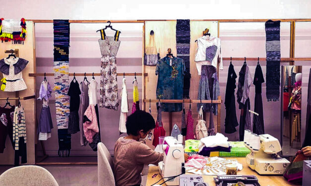 Renew Earth Sweat Shop Exhibition & Sewing Workspace